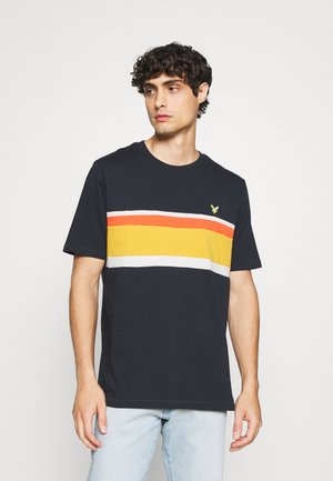 PANEL - Print T-shirt - dark navy
