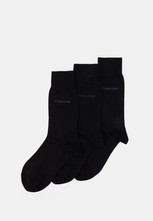 MEN CREW FLAT ERIC 3 PACK - Socks - black