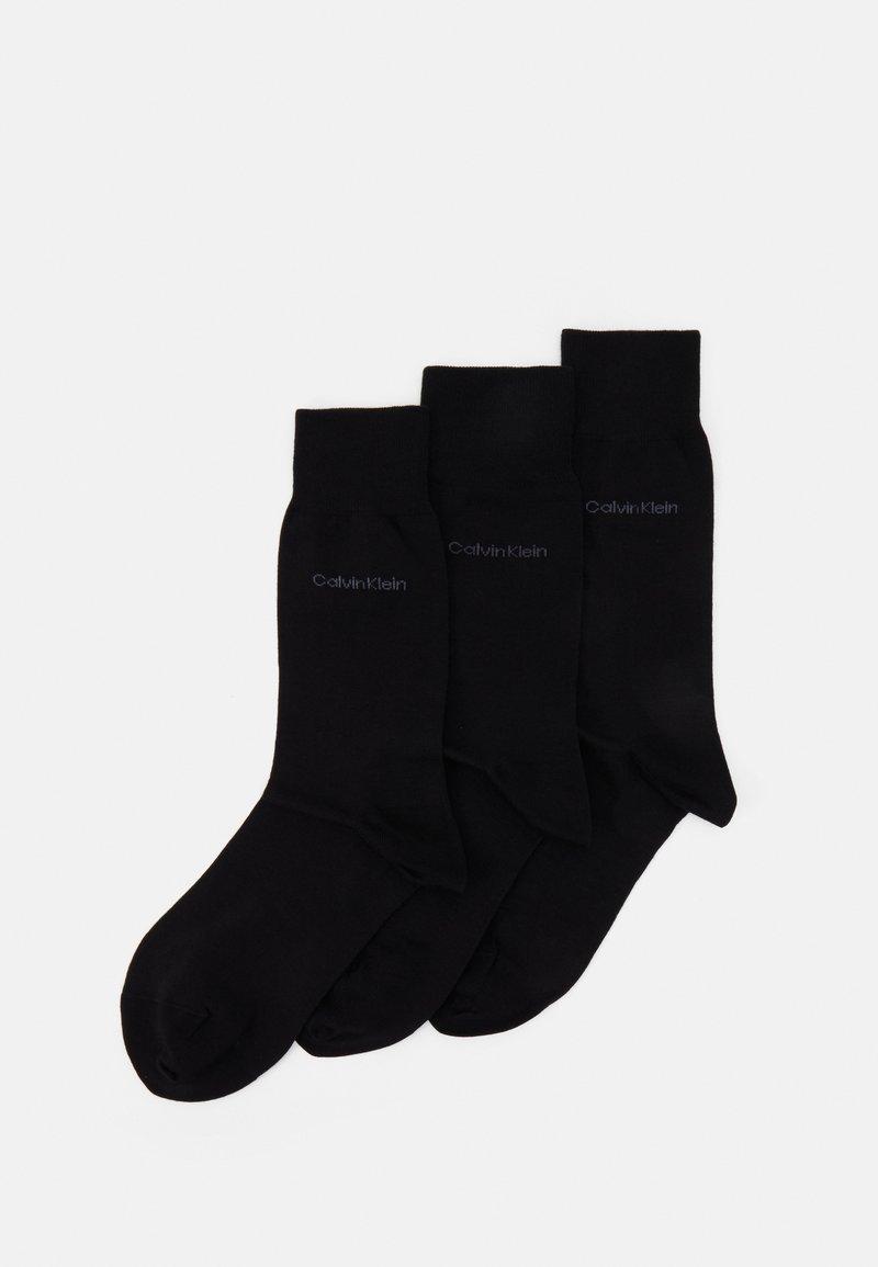 Calvin Klein Underwear - MEN CREW COMBED FLAT ERIC 3 PACK - Socks - black