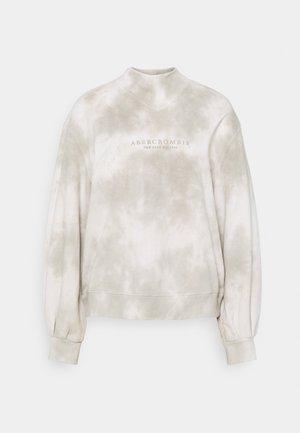 SEASONAL LOGO MOCK NECK CREW PATTERN - Sweatshirt - grey marble