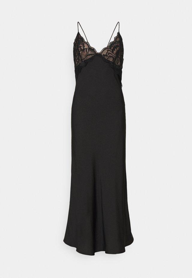 NIGHT DRESS WOVEN STELLA - Negligé - black