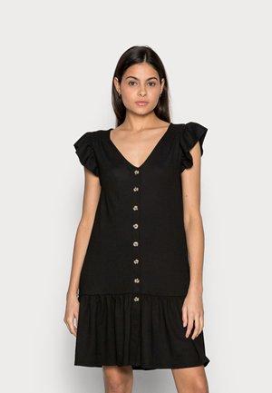 CRINKLE DRESS - Shirt dress - black