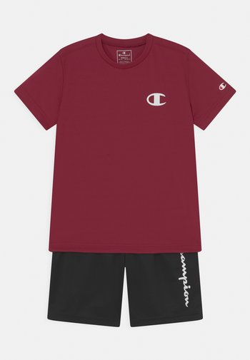 PLAY LIKE A CHAMPION BACK TO SCHOOL SET UNISEX - Print T-shirt - dark red/black