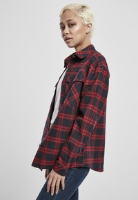 Urban Classics - OVERSIZED  - Button-down blouse - midnightnavy/red - 3
