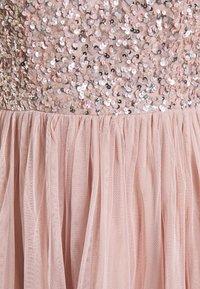 Maya Deluxe - DELICATE SEQUIN RUFFLE SLEEVE MINI DRESS - Sukienka koktajlowa - frosted pink - 2