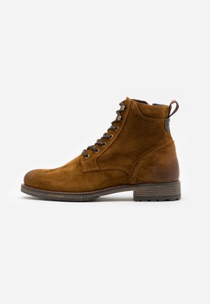 LACE UP BOOT - Lace-up ankle boots - cognac