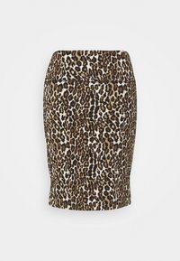 Kaffe - KAJES PENNY SKIRT - Mini skirt - classic sand/black - 1
