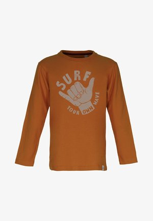 YOUR OWN WAVE - Long sleeved top - rust