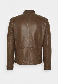 Strellson - DERRY - Leather jacket - tobacco - 7