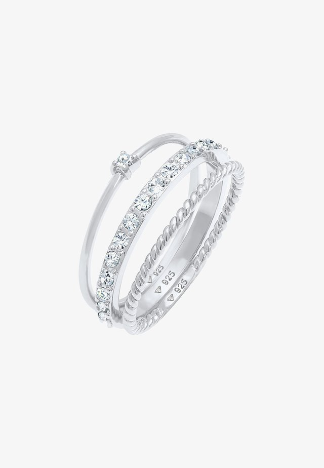 GLASS CRYSTAL - Ring - silber