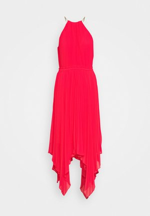 PLEATED HALTER DRESS - Vestido de fiesta - geranium