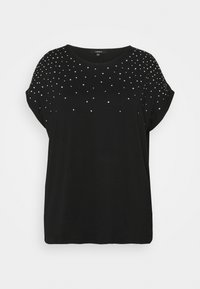 CAPSULE by Simply Be - SPARKLE TRIM RELAXED - Print T-shirt - black - 4