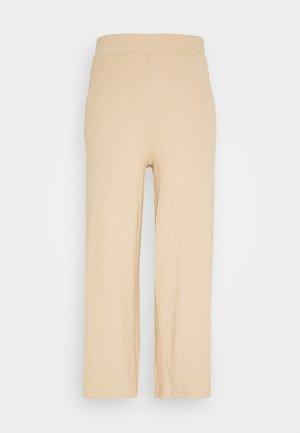 Wide Cropped Pants - Kangashousut - cuban sand