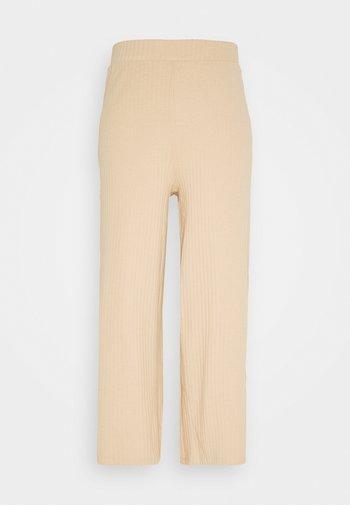 Wide Cropped Pants - Pantalones - cuban sand