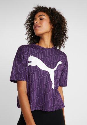 MODERN SPORT FASHION TEE - Print T-shirt - plum purple