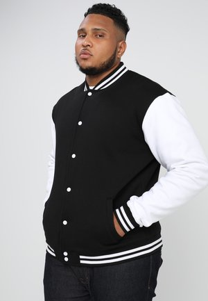 COLLEGE - Zip-up hoodie - black/white