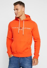 Tommy Hilfiger - LOGO HOODY - Sweat à capuche - orange - 0