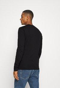 Calvin Klein - LONG SLEEVE LOGO 2 PACK - Bluzka z długim rękawem - black - 2