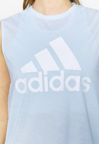 adidas Performance - MUST HAVES SPORT REGULAR FIT TANK TOP - Sports shirt - sky tint/white - 5