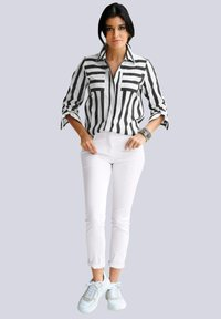 Alba Moda - Button-down blouse - schwarz weiß - 1