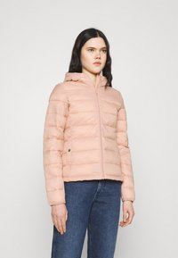 ONLY - ONLSANDIE QUILTED HOOD JACKET - Light jacket - misty rose - 0