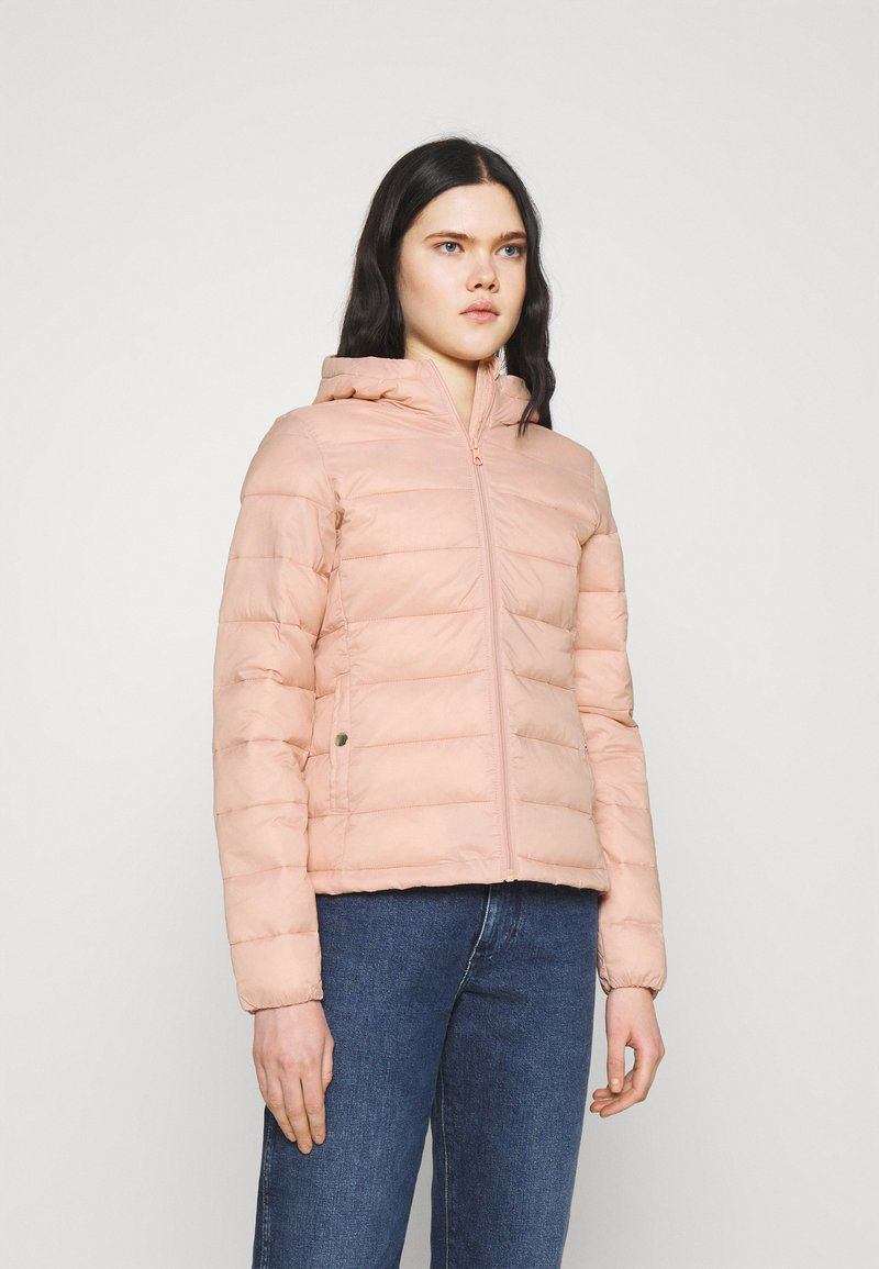ONLY - ONLSANDIE QUILTED HOOD JACKET - Light jacket - misty rose