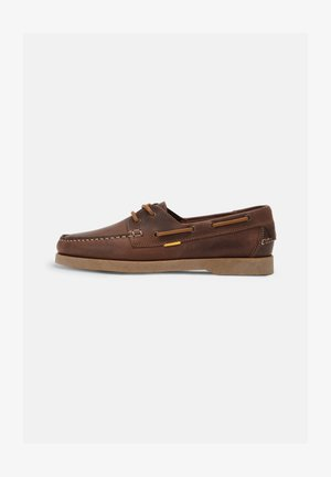 SWEEP LOW LACE SHOES - Boat shoes - brown