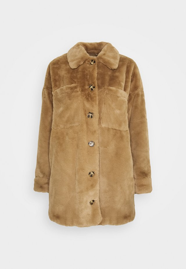 VMDONNASHIRT JACKET - Winter coat - sepia tint