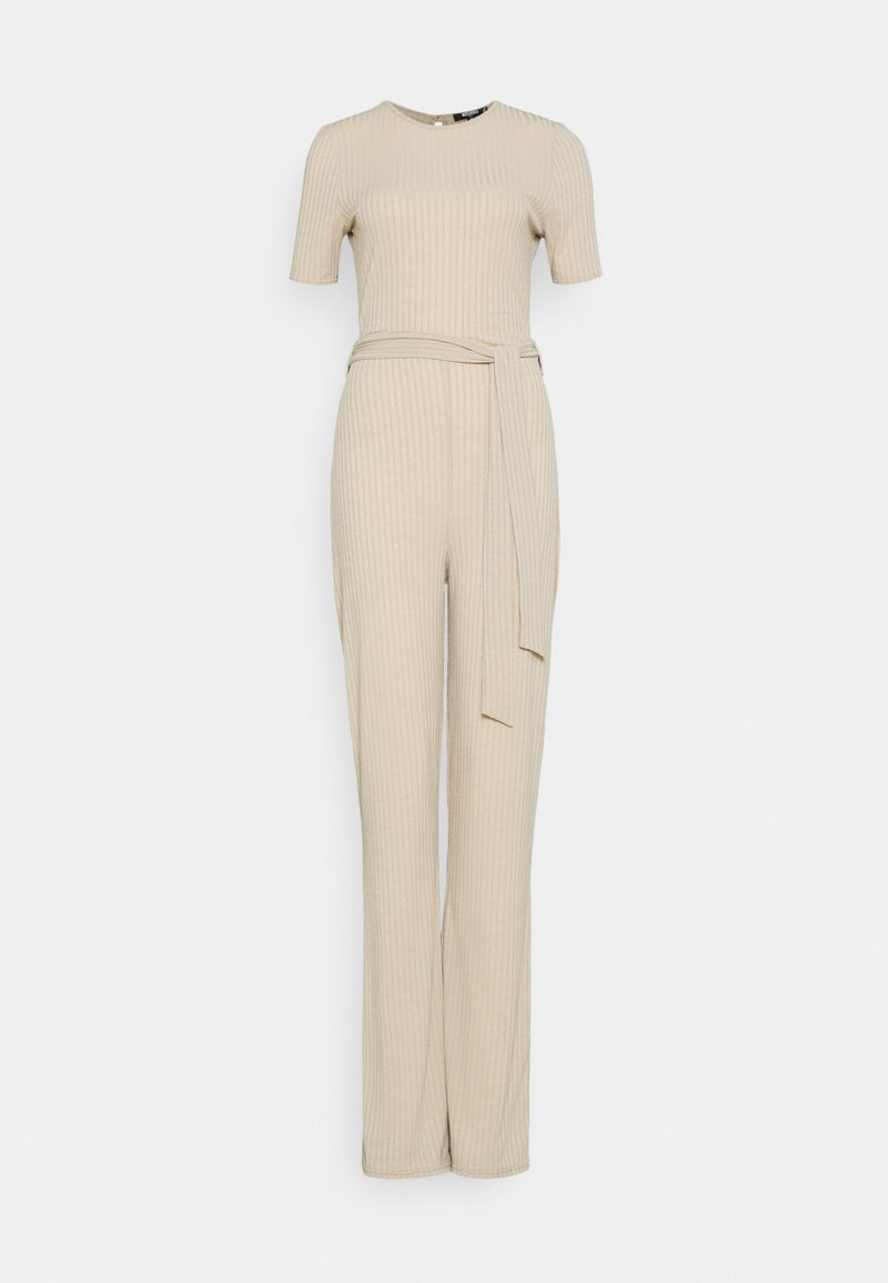 Missguided Tall - SHORT SLEEVE FLARE LEG - Overal - stone