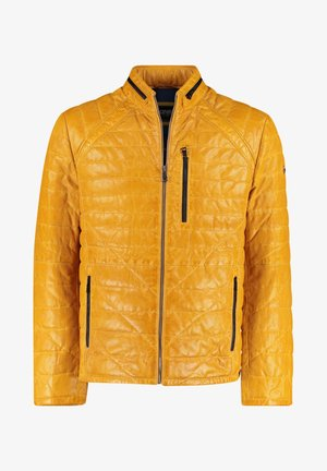 Leather jacket - gelb