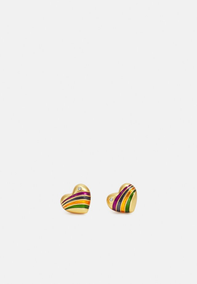 RAINBOW HEART STUD EARRING - Oorbellen - multi