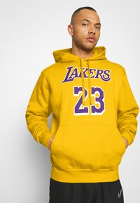 Nike Performance - NBA LOS ANGELES LAKERS LEBRON JAMES CITY EDITION ESSENTIAL - Club wear - amarillo/field purple - 3