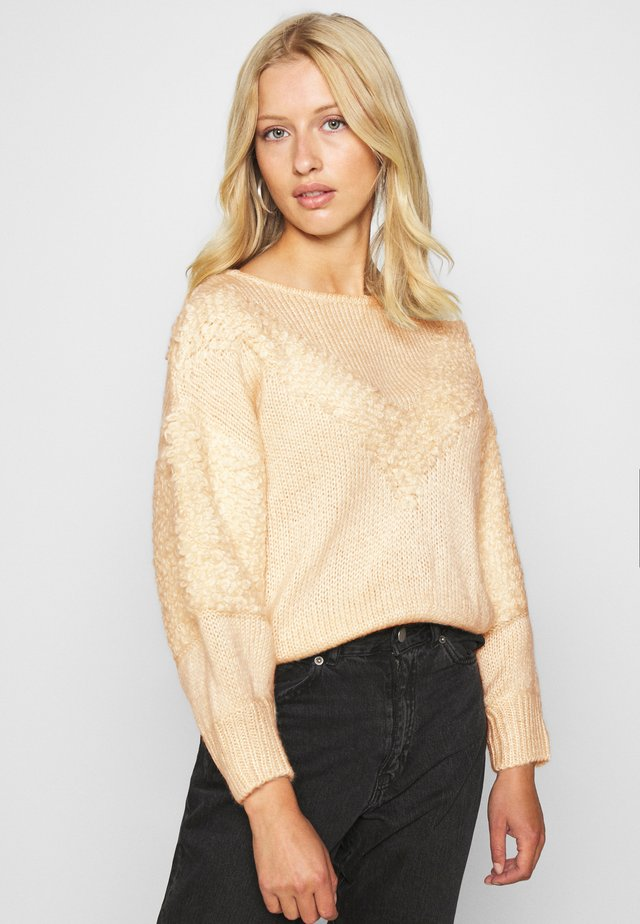 LOOPY - Sweter - cream
