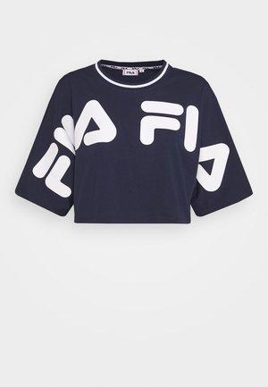 BARR - Print T-shirt - black iris