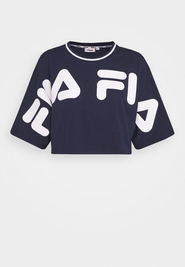 BARR - T-shirt imprimé - black iris
