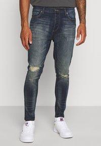 Brave Soul - OLIVER - Jeans Skinny Fit - dark blue wash - 0