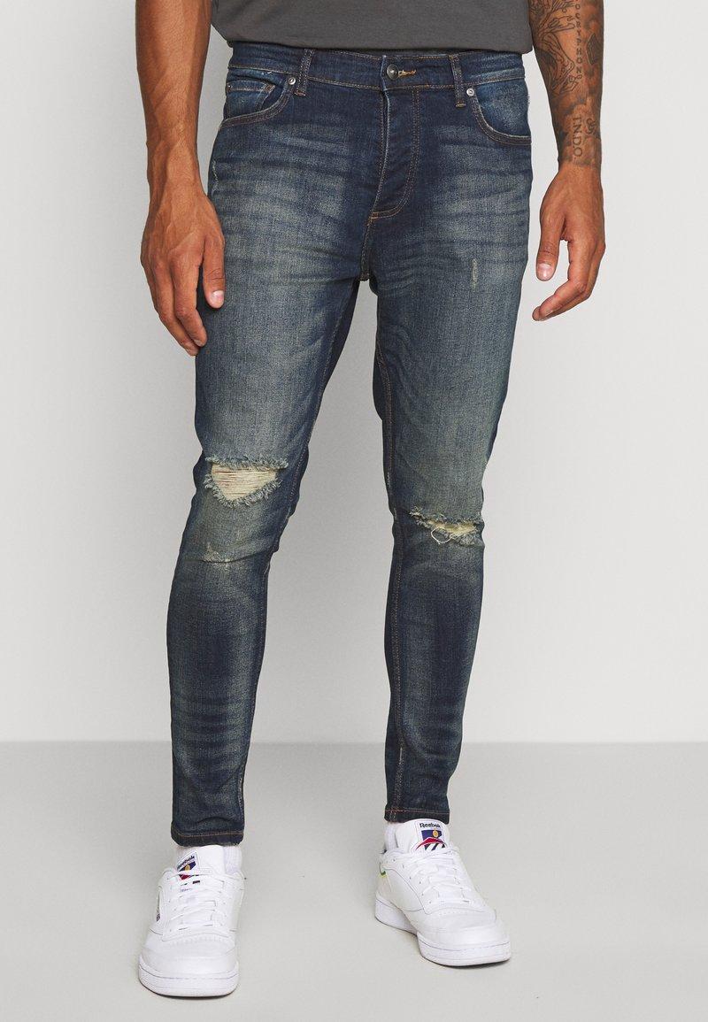 Brave Soul - OLIVER - Jeans Skinny Fit - dark blue wash