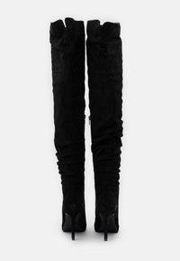 Even&Odd - LEATHER - Boots med høye hæler - black - 3