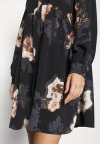 River Island - LISA SMOCK SHIRT DRESS  - Shirt dress - black - 5