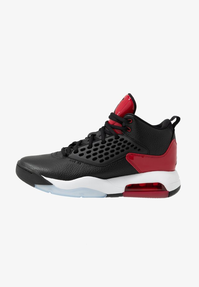 MAXIN 200 - Sneakersy wysokie - black/gym red/white