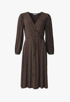 SENJA LS - Jersey dress - brown
