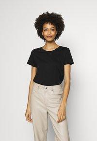 GAP - CREW 2 PACK - T-shirt basic - true black - 4