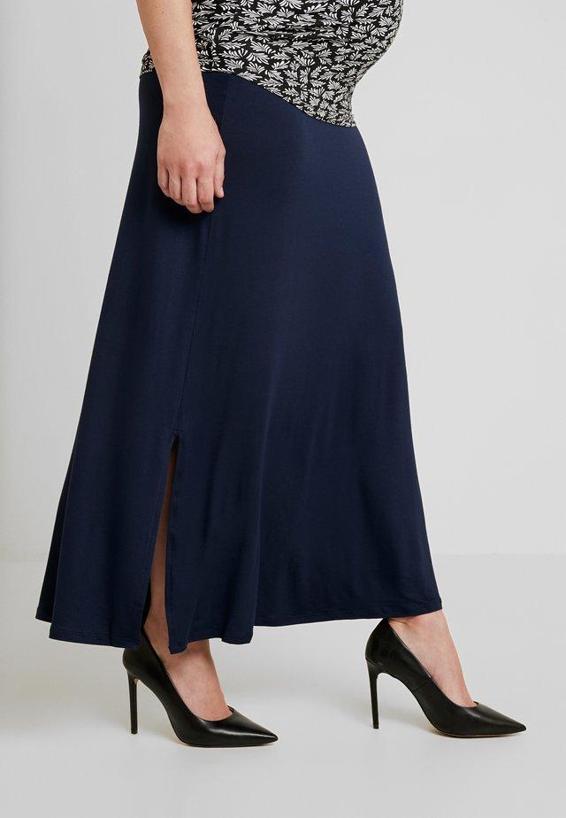 MARJORIE 2 IN 1 MATERNITY SKIRT - Długa spódnica - navy blue
