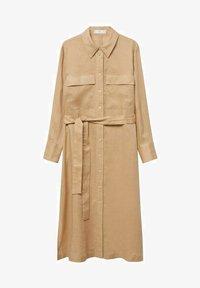 Mango - Shirt dress - beige - 4