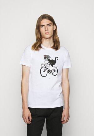 BIKE MONKEY - Print T-shirt - white