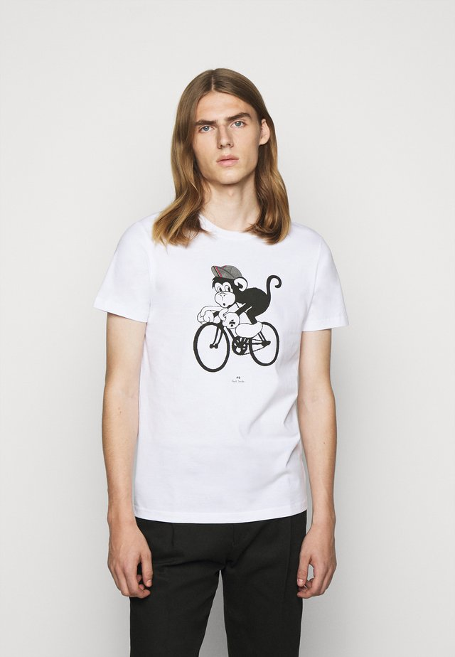 BIKE MONKEY - Print T-shirt - white