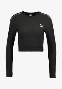 Puma - CLASSICS - Long sleeved top - black - 3