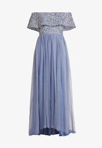 Maya Deluxe - OVERSIZED BARDOT HIGH LOW DRESS - Occasion wear - dusty blue - 5
