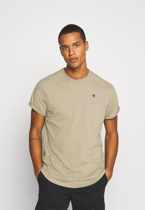 LASH ROUND SHORT SLEEVE - Jednoduché triko - light rock