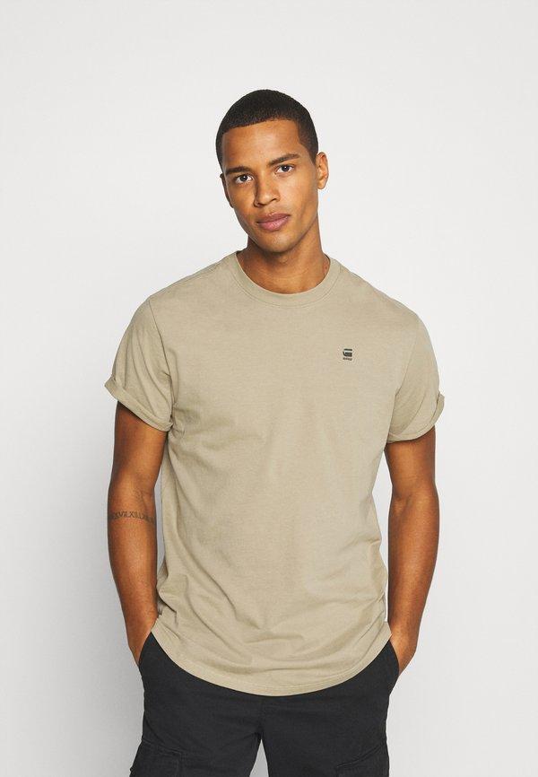 G-Star LASH ROUND SHORT SLEEVE - T-shirt basic - light rock/piaskowy Odzież Męska DFWZ